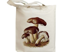 Mushroom 05 Vintage Eco Friendly Canvas Tote Bag (ixp005)