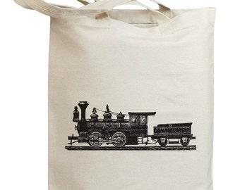 Retro Train 02 Eco Friendly Tote Bag (no. id0022)