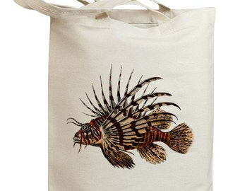 Lion Fish Eco Friendly Canvas Tote Bag (id0048)