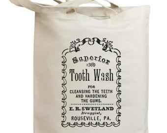 Retro Vintage Label 04 Eco Friendly Canvas Tote Bag (id0122)