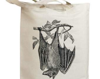Vintage Bat Eco Friendly Canvas Tote Bag (id0146)