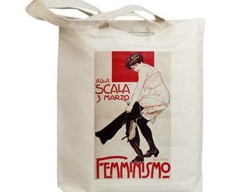 Femminismo European Poster Ad Eco Friendly Tote Bag (id5354)