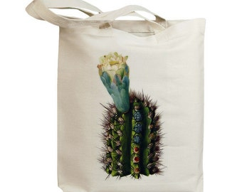 Retro Cactus Flower 02  Eco Friendly Canvas Tote Bag (id6601)