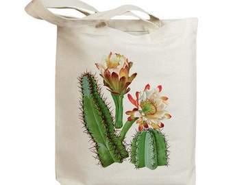 Retro Cactus Flower 05  Eco Friendly Canvas Tote Bag (id6604)
