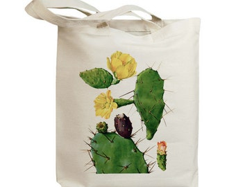 Retro Cactus Flower 07  Eco Friendly Canvas Tote Bag (id6606)
