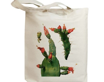 Retro Cactus Flower 09  Eco Friendly Canvas Tote Bag (id6608)