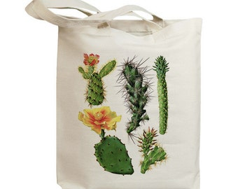 Retro Cactus Flower 10  Eco Friendly Canvas Tote Bag (id6609)