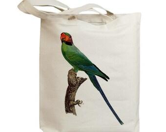 Retro Parrot 16 Eco Friendly Canvas Tote Bag (id5118)