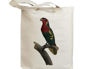 Retro Parrot 19 Eco Friendly Canvas Tote Bag (id5121)