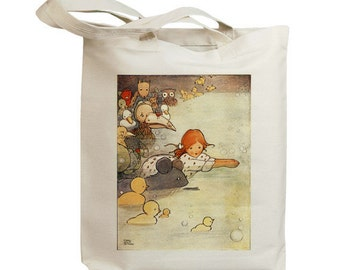 The Pool of Tears - Alice in Wonderland Eco Friendly Canvas Tote Bag (id7509)