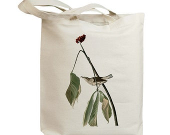 Louisiana Water Thrush Bird Eco Friendly Canvas Tote Bag (id7009)