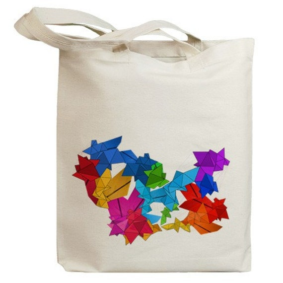 Origami Abstract Eco Friendly Tote Bag (id0031)