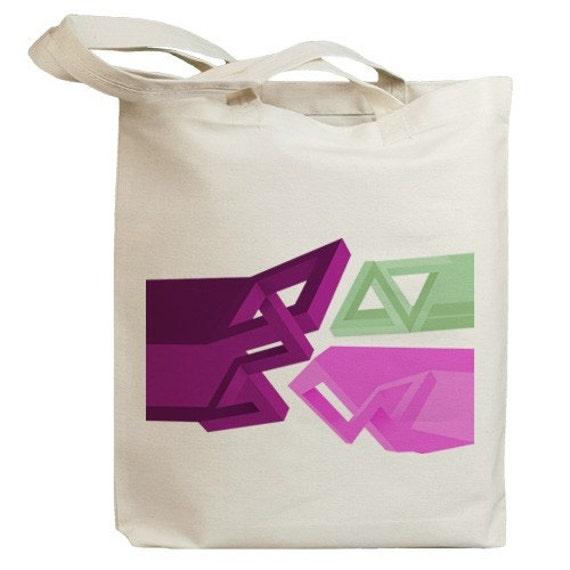 Abstract Graphics Eco Friendly Tote Bag (no. id0041)
