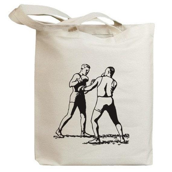 Retro Boxer 04 Eco Friendly Canvas Tote Bag (id0072)