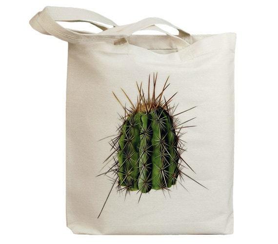 Retro Cactus 04  Eco Friendly Canvas Tote Bag (id6603)