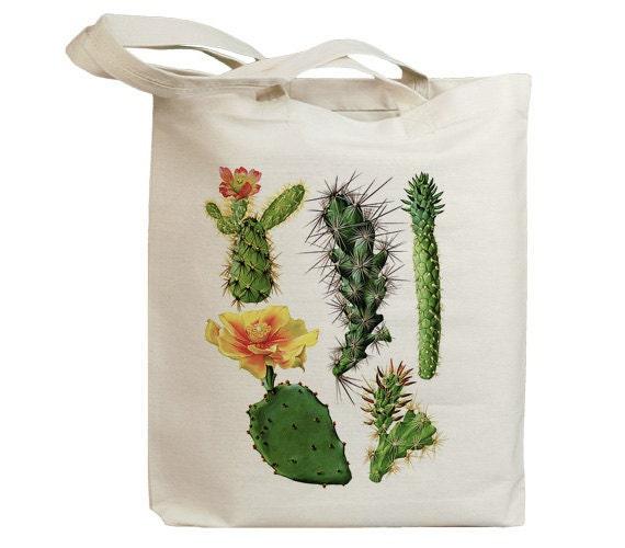 Retro Cactus Flower 10  Eco Friendly Canvas Tote Bag (id6609)