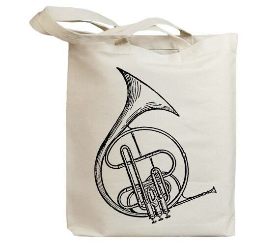 Circle Cornet Music 02 Vintage Eco Friendly Canvas Tote Bag (id6204)