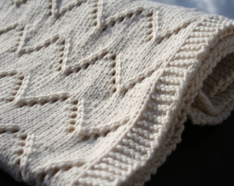 Welcome Baby blanket - (knitting pattern PDF download)