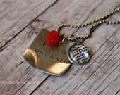 I am a dreamer - Imagine Hand Stamped  Necklace