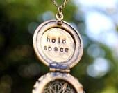 Antique Brass Hold Space Locket