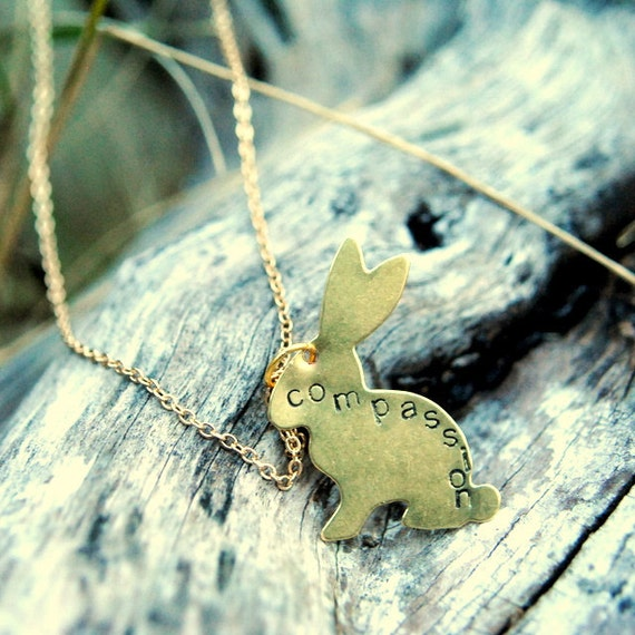 Compassion is the Fashion Bunny Necklace