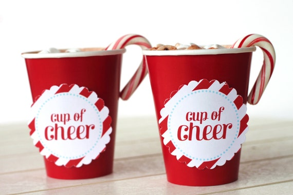 Items similar to PRINTABLE Cup of Cheer Circles for ...