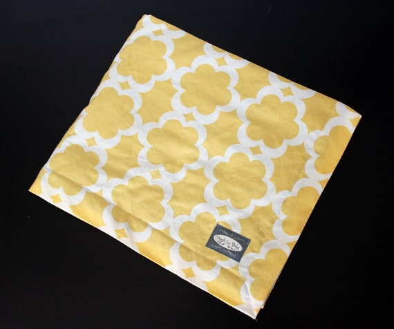 Baby Blanket - Yellow flower with Gray minky baby blanket