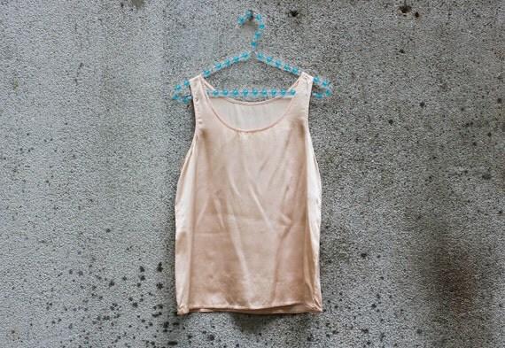 Blush Pink Silk Vintage Vest
