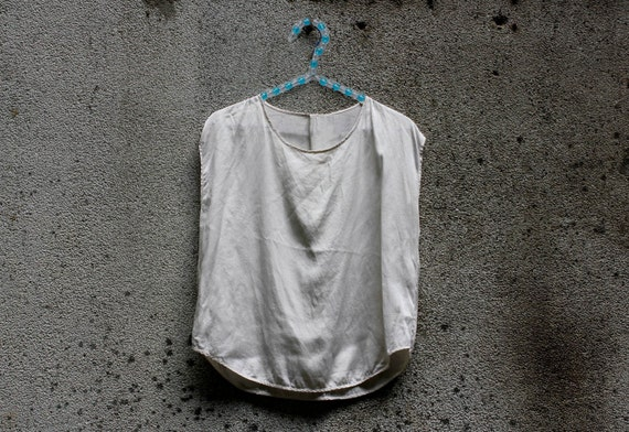 Vintage Cream Silk Top