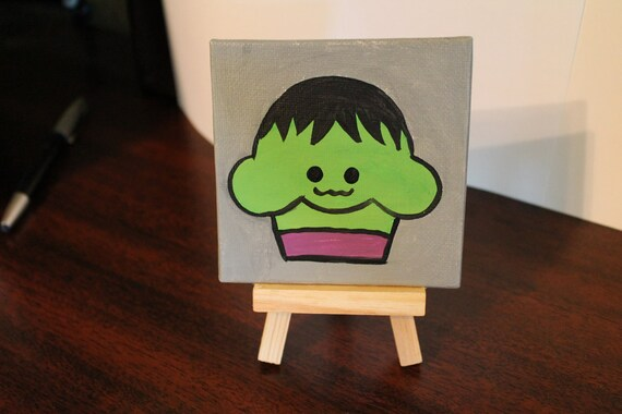 Cupcake Painting - Heroes The Hulk