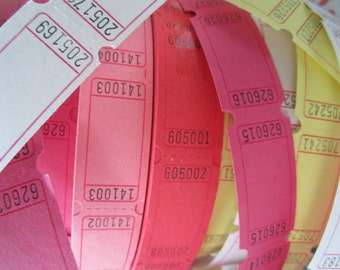 Carnival Tickets Blank 250 Any Color