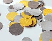 paper paillettes mix - mustard and gray
