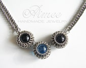 Spheres - chainmaille necklace