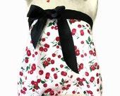 Womens Ribbon tie top -  Cherry Summer