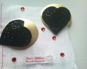 Black and Gold Heart Pastie