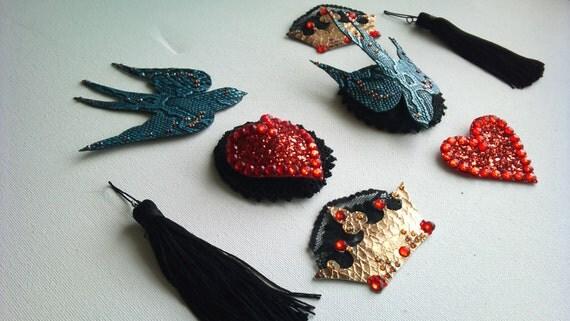 Interchangeable Burlesque Pasties and Tassels 4 designs