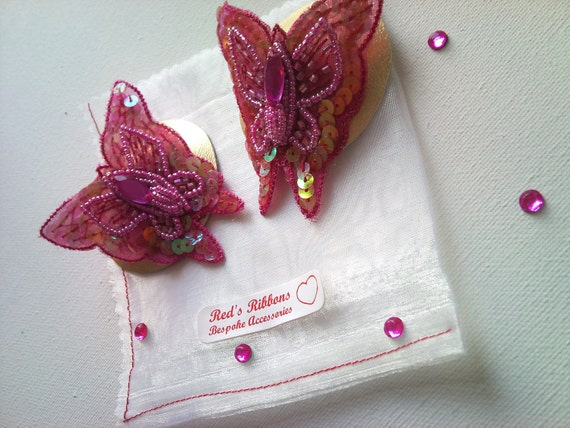 Nipple Pasties Pink sequined Butterfly