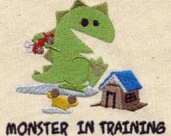 Monster in Training Baby Bib