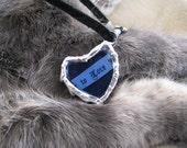 Fairy Dust Heart Necklace Dandelion Milk Weed Seeds Jewelry Keeper of Secret Loves Glitter Sand Heart Necklace Heart Pendant M Original