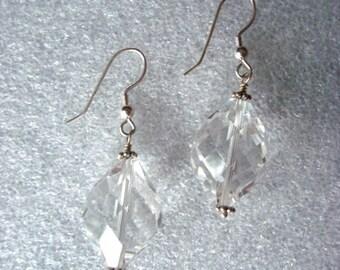 E772  Quartz Crystal Earrings