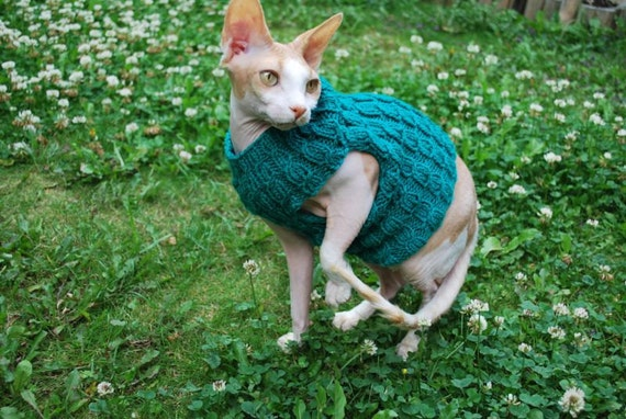 Cat clothes, knitted cat sweater, warm cat sweater,soft hand-knitted sweater for small dogs or cats, sphynx sweater,kitten clothes