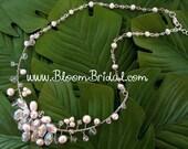 Genuine Freshwater Pearl Bridal Necklace (j)