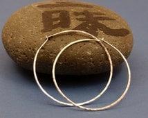 Silver Hoops, Ready to ship, Hammered Silver Earrings, 1.5 inch Silver Hoops, Gyspy Hoop, Medium Hoop Earrings, Silver Jewelry, Gift for Her