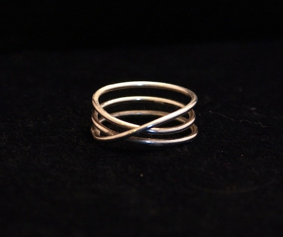 Sterling Silver Endless Circling Mobius Ring