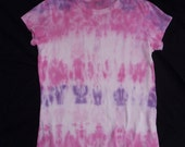 Ladies Pink and Purple Tiedyed T-Shirt size Medium