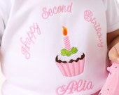 Birthday Girl Cupcake Birthday Outfit Tutu Onesie Shirt Personalized