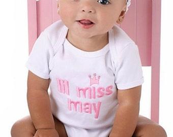 Personalized Onesie or T Shirt Little Miss Month 3 months to 4T  Free Shipping