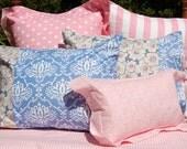Damask & Poppy Pillow Shams - Duvet Cover Companions - Girls Bedding