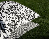 Euro Sham - Black & White Bedding - Duvet Cover Companion Item