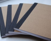 Plain Brown Doodling Wide Ruled Composition Notebook Set of 4 - PaperHeartsApparel